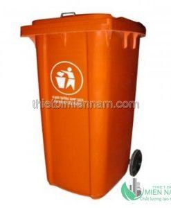 Thùng rác nhựa 120L màu xanh