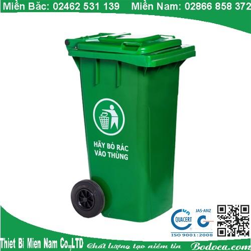 Thùng rác nhựa composite 120L ngoài trời