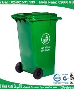 Thùng rác nhựa ngoài trời HDPE 120L