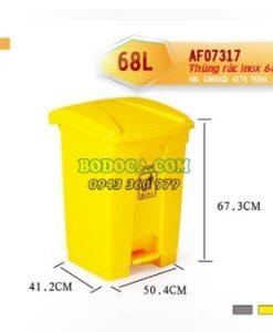 Cung cấp thùng rác 68l đạp chân