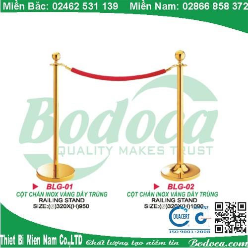 Cột chắn inox dây trùng Giá rẻ