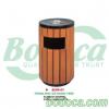 Thùng rác gỗ ngoài trời có gạt tàn- Bodoca