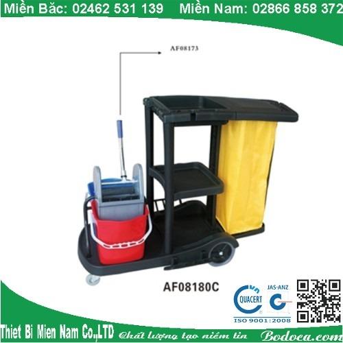 Xe dọn vệ sinh kèm xe vắt nước AF08180C