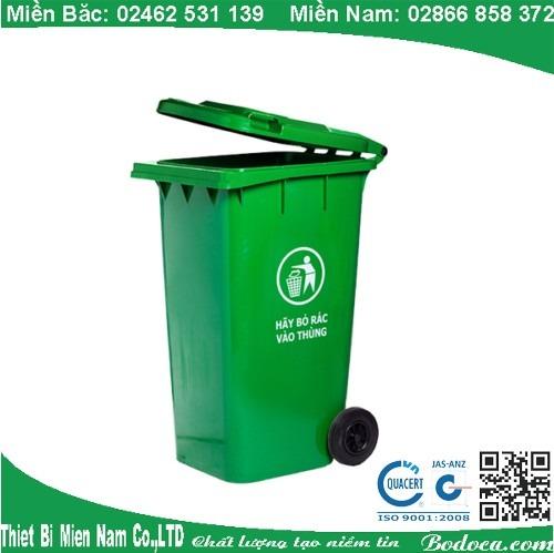 Thùng rác nhựa HDPE 240L Bodoca