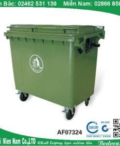 Thùng rác nhựa ngoài trời HDPE 660L